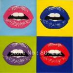Энди-уорхол-поцеловать-на-прощание-губы-поп-воздушными-искусство-расписанный-картина-маслом-на-брезент-Уорхол-стиль